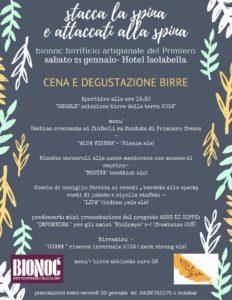 Cena con degustazione di birre Bionoc - Hotel Isolabella